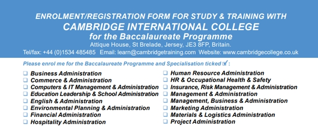 Baccalaureate Offered By Cambridge International College
