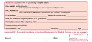 Cambridge Enrollment - Personal Details
