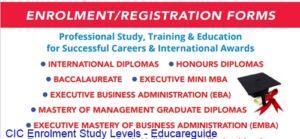 Cambridge Enrollment - Study Levels