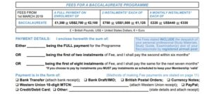 Fees And Payment Methods CICBaccalaureate