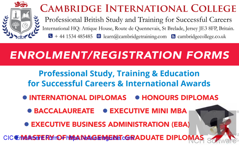 How To Enroll In Cambridge International College