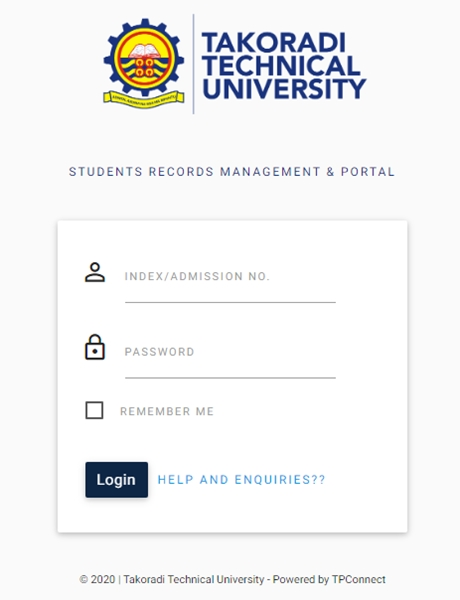 TTU Portal Student Login - Here Is The Takoradi Technical University