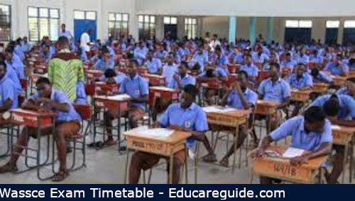 wassce timetable for 2021