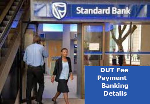 dut banking details for